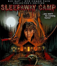 Sleepaway Camp Blu-Ray Details - The details are in! The summer camp-slasher Sleepaway Camp hits the streets on May and this Collector's Edition DVD & Blu-ray combo is packed! The goodies include: Best Horror Movies, Horror Movie Posters, Horror Films, Scary Movies, Awesome Movies, Horror Icons, Halloween Movies, Return To Sleepaway Camp, 1080p