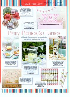 HomeMaker Magazine May 2015  #Kilner 5L drinks dispenser, perfect pretty party accessory.