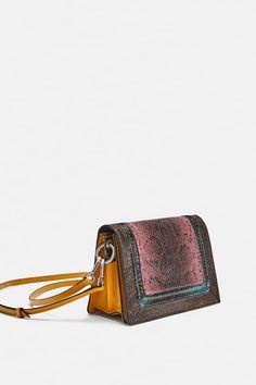 ZARA - WOMAN - EMBOSSED LEATHER CROSSBODY BAG Bags 2018, Leather Crossbody  Bag, Zara 71225ea533