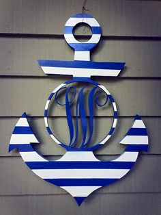 20 FINISHED Wooden Anchor Door Hanger by CCOWreathDesign on Etsy