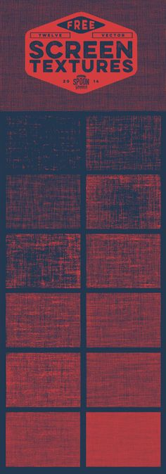 12 Free Vector Screen Textures by Chris Spooner. I love this man. Seriously.