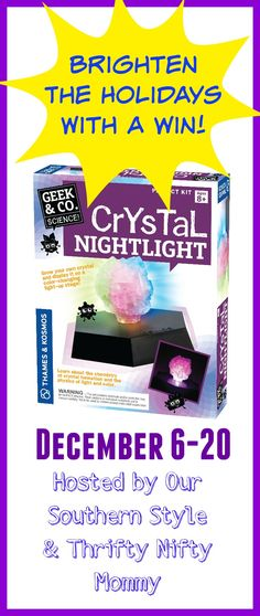 Put a glowing smile on any child's face with a crystal nightlight set! Grow your own crystal & display it as a nightlight. Make education fun this Christmas