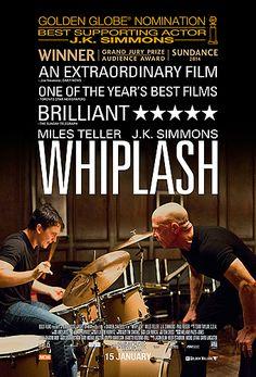 """Whiplash. Una película de dos personas que tienen ambición. """"Si no tienes habilidad acabas tocando rock""""."""