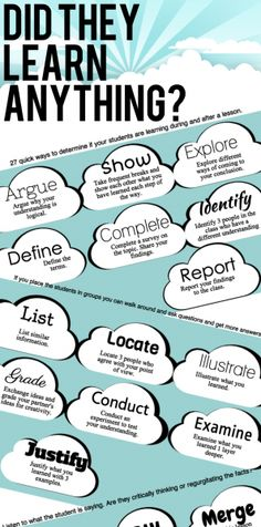 27 Ways To Determine If Your Students Are Learning Infographic