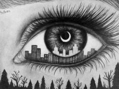 eye with city drawing - Google Search