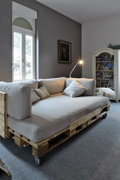 sofa-selber-bauen-70-ideen-und-bauanleitungen | Bett | Pinterest ...