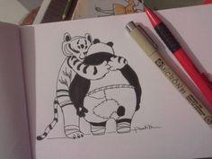 Tigress & Po Hug
