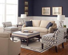 Best Taupe Sofa With Navy Ivory Rug Living Room Theme 400 x 300