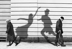 Old man , old woman, black and white, dancers, soul , shades..