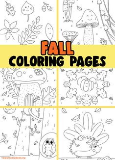 Fall Coloring Pages for Kids Fall Leaves Coloring Pages, Summer Coloring Pages, Tree Coloring Page, School Coloring Pages, Cute Coloring Pages, Easy Crafts For Kids, Toddler Crafts, Art For Kids, Autumn Activities