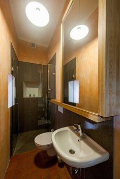 Pohled do koupelny Bathroom Lighting, Mirror, Frame, Furniture, Home Decor, Homemade Home Decor, Bathroom Vanity Lighting, Mirrors, A Frame
