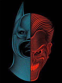 Batman vs Joker #Batman #Joker #Illustration