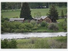 Boulder River Cabin -Fantastic cabin on the Boulder River - rustic feel with high end amenities. Big Timber Montana, Timber Cabin, Rustic Feel, Vacation Rental Sites, Bouldering, This Is Us, House Styles, Travel, Outdoor