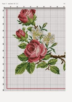 ru / Фото - 45 - irisha-ira --- Cross stitch table runner in several sections on site. Cross Stitch Love, Cross Stitch Borders, Cross Stitch Flowers, Cross Stitch Charts, Cross Stitch Designs, Cross Stitching, Cross Stitch Patterns, Rose Embroidery, Cross Stitch Embroidery