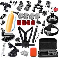 Gopro Accessories Bundle Kit 33 Pieces For Gopro Hero 3 3+ 4 Session Camera, Handheld Monopod Gopro Carry Case Large, Gopro Chest Mount And Head Strap+Wrist Strap and Bicycle Handlebar Mount, http://www.amazon.com/dp/B01KMFKT3K/ref=cm_sw_r_pi_awdm_xs_a5NkybV6GR3M6
