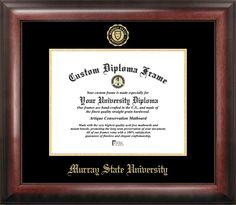 murray state university gold embossed diploma frame - Diploma Frames With Tassel Holder