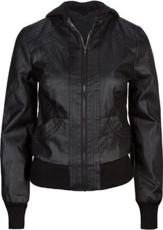 FULL TILT Faux Leather Womens Hooded Jacket $39.99 #topseller