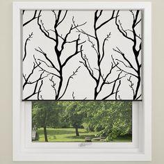 Tree Vit/Svart Mörkläggande Rullgardin