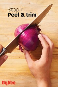 Follow these steps for the easiest, most efficient ways to prep an onion. Swipe to get directions for the next steps. Step 1: Peel and trim: Using a chef's or santoku knife, halve the onion through the root end, then peel the onion and trip the top. How To Cut Onions, In Season Produce, The Next Step, Get Directions, Prepping, Finding Yourself, Soul Searching