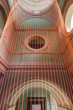 London design studio Glithero has created a kinetic installation that extends across six floors at the V&A museum.