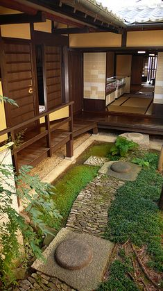 "Nara - Koshi-no-ie House - - The ""Lattice House"" is a reconstruction/restoration of a typical merchants row house, long and narrow with a small internal courtyard. Incidentally, the layout of my guesthouse was almost identical."