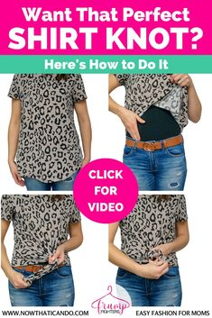 Tie knot shirts are a huge trend right now and easy to DIY! Here's a easy step-by-step video on how to knot any oversized or stretchy shirt!