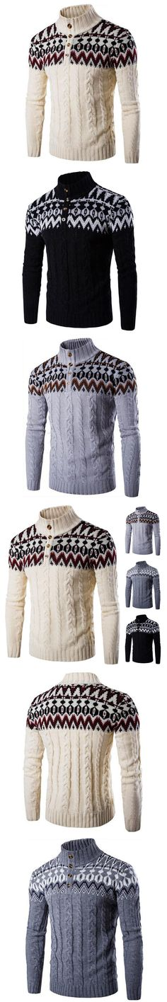 2017 new arrival autumn and winter new men's sweater men's hedging spell color ethnic sweater coat
