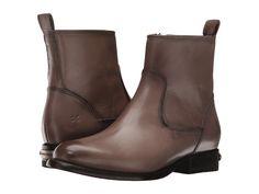 FRYE FRYE - DANIELLE SHORT (GREY SMOOTH POLISHED VEG) COWBOY BOOTS. #frye #shoes #