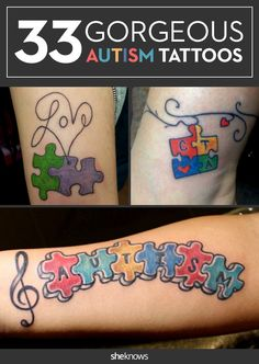 33 gorgeous tattoos that are all about autism: Autism Awareness Month