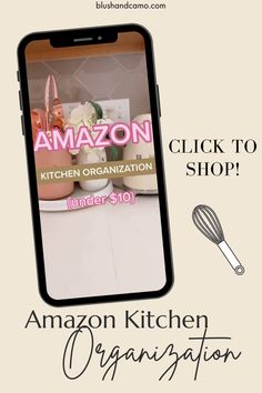 Organizing your kitchen? Check out these must have items from Amazon. Click to shop! #amazonfinds #tiktokamazonfinds #amazonfinds2021 #kitchenorganization #kitchengadgets
