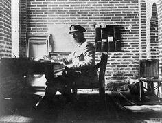 THE SIEGE OF KUT-EL-AMARA, DECEMBER 1915 - APRIL 1916. Major General Charles Townshend in his quarters at Kut-el-Amara during the siege.