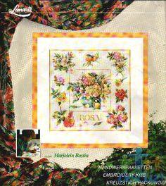 Gallery.ru / Фото #10 - 3 - Auroraten Cross Stitch Flowers, Cross Stitch Patterns, Cross Stitch Gallery, Marjolein Bastin, Needle And Thread, Wooden Signs, Cross Stitching, Needlework, Vintage World Maps
