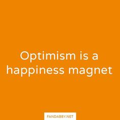 'Optimism is a happiness magnet' - Think about it. When you are optimistic you are more likely to get to goals successfully. And achieving in any form brings us joy. So how some optimism today: perhaps it's an exam? Or a job interview? Be optimistic you can achieve so much!!  (We are working on a secret project right now which means the usual site is down by you can get it at - Fandabby.storenvy.com)   All profits from our clothing are donated to @RethinkMentalIllness and @YoungMindsVS…
