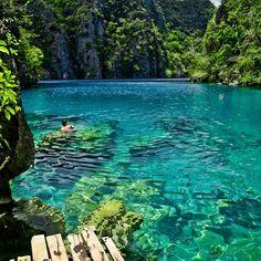 Kayangan lake @ Philipines #travel #lakes #philipines www.wannahaves.com