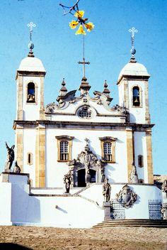 Sanctuary of Senhor Bom Jesus do Matozinhos in Congonhas,Minas Gerais state,Brazil.