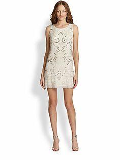 Alice + Olivia Jame Silk Studded & Beaded Dress Gorge!!!!!!!!