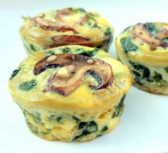 Spinach Egg Cups I think this would be delicious, because I do like spinach, but I'm not a big mushroom person >.<