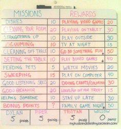 Chore Rewards, Kids Rewards, Rewards Chart, Chore List, Kids And Parenting, Parenting Hacks, Teaching Kids, Kids Learning, Chore Chart Kids