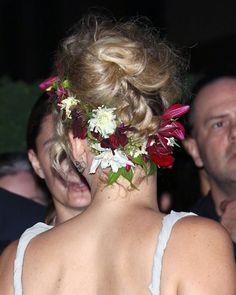 Jennifer Lawrence Flower Updo   POPSUGAR Beauty