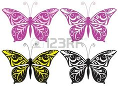 Inwrought butterfly silhouette Stock Photo - 17846946