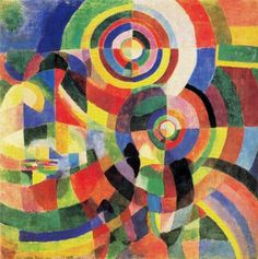 Sonia Delaunay-Terk. Odesa 1885-Paris 1979    Electric Prisms 1914. Oleo sobre Lienzo. Pompidou Center, Paris. 124 cm x 124cm    Orfismo