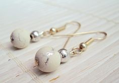 White Grunge Earrings   Dangle Earrings  Grunge by GrungeForever