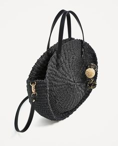 BRAIDED TOTE BAG WITH POMPOMS from Zara