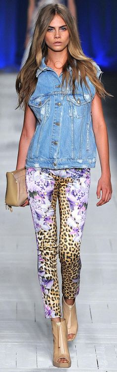 Just Cavalli - best printed jeans ever and denim vest!!