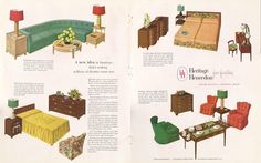 Heritage Henredon furniture ad from House and Garden, October 1949