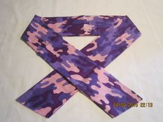 """Extra Wide 3"""" Reusable Non-Toxic Cool Wrap / Neck Cooler  - Camouflage - Pink and Purple by ShawnasSpecialties on Etsy"""