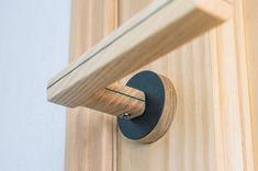 Wooden door handle | black round | Ttype – CROWDYHOUSE