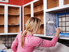 Pinning for Kate since we just talked about this yesterday. How to Paint Kitchen Cabinets | DIY Network