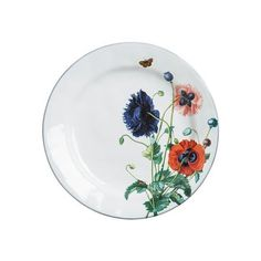 From our Field of Flowers Collection - Lay your blanket among the wildflowers, grab a glass of wine and curate your setting with our inspired botanical plates. Alive with budding poppies and buzzing garden insects, our Field of Flowers Dinner Plate cre
