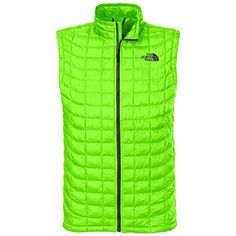 The North Face ThermoBall Vest  Mens Power Green Large ** Click on the image for additional details.